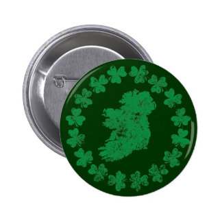 Ireland and Shamrocks Pin