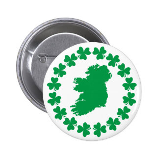 Ireland and Shamrocks Pins