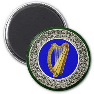 Ireland Arms 2 Inch Round Magnet