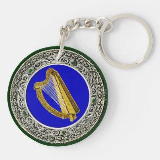 Ireland Arms Double-Sided Round Acrylic Keychain