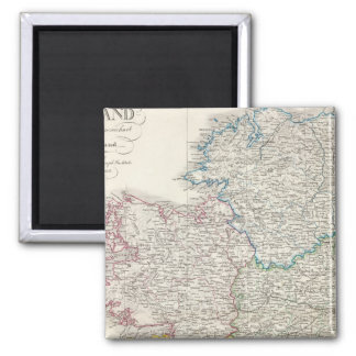 Ireland Atlas map 2 Inch Square Magnet