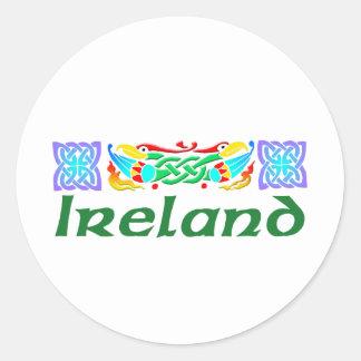 Ireland - Bird Illumination Classic Round Sticker