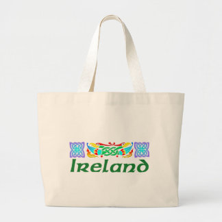 Ireland - Bird Illumination Large Tote Bag