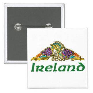 Ireland - Bird Knot Pinback Buttons