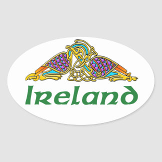 Ireland - Bird Knot Oval Sticker