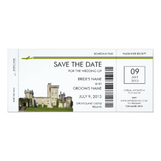 Ireland Boarding Pass Save The Date Invitations at Zazzle