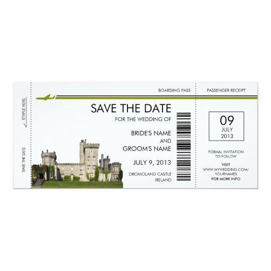 Ireland Boarding Pass Save The Date Invitations Zazzle Com