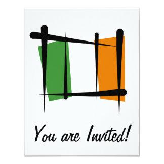 Ireland Brush Flag Card