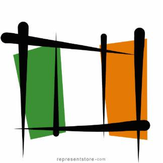Ireland Brush Flag Cutout