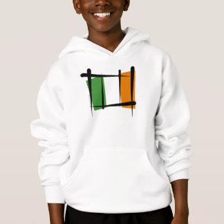 Ireland Brush Flag Hoodie