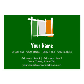 Ireland Brush Flag Large Business Card