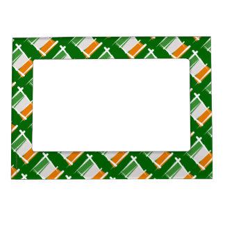 Ireland Brush Flag Magnetic Frame
