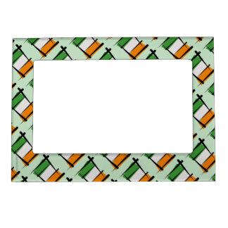 Ireland Brush Flag Magnetic Photo Frame