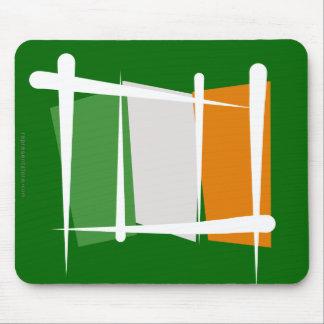 Ireland Brush Flag Mouse Pad