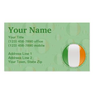 Ireland Bubble Flag Business Card