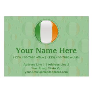 Ireland Bubble Flag Large Business Card