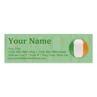 Ireland Bubble Flag Mini Business Card