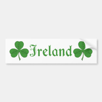 Ireland Bumper Sticker Car Bumper Sticker