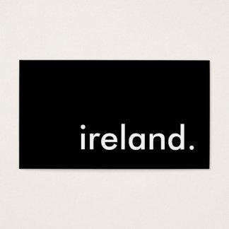 ireland. business card
