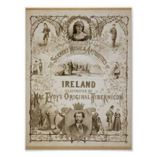 Ireland by Mac Evoy s Original Hibernicon Print