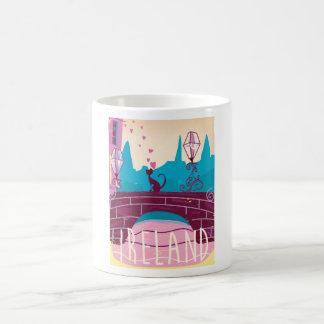 Ireland cartoon vintage style travel poster coffee mug