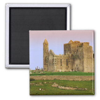 Ireland, Cashel. Ruins of the Rock of Cashel 2 Inch Square Magnet