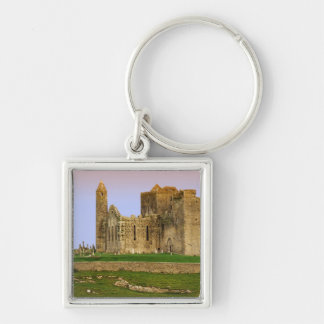 Ireland, Cashel. Ruins of the Rock of Cashel Silver-Colored Square Keychain