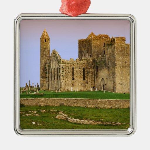 Ireland, Cashel. Ruins of the Rock of Cashel Square Metal Christmas Ornament