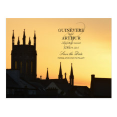 Ireland Castle Abbey Wedding Save The Date Postcard at Zazzle
