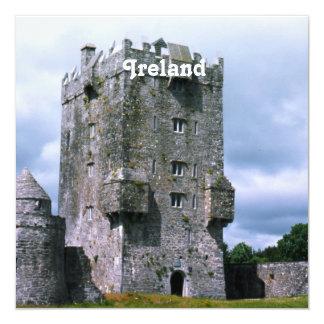Ireland Castle 5.25x5.25 Square Paper Invitation Card