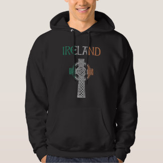 Ireland Celtic Cross Hoodie
