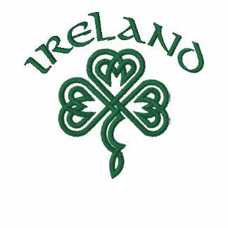Ireland Celtic Shamrock shirt Embroidered Polo Shirt