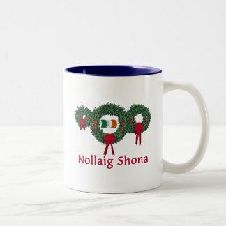 Ireland Christmas 2 Two-Tone Coffee Mug