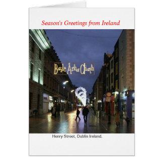 Ireland Christmas Greeting Card