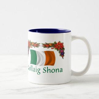 Ireland Christmas Two-Tone Coffee Mug