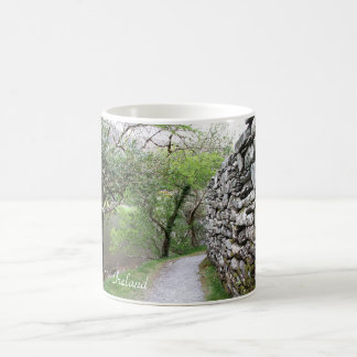 Ireland, Church, Stone Wall, Lake, Photography Coffee Mug