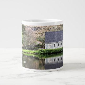 Ireland, Church, Stone Wall, Lake, Photography Giant Coffee Mug