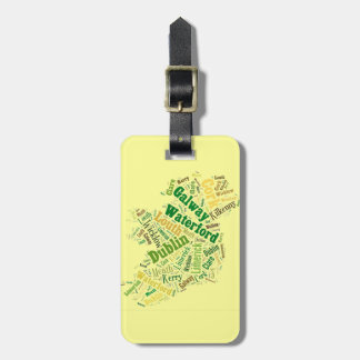 Ireland Cities Word Art Luggage Tags