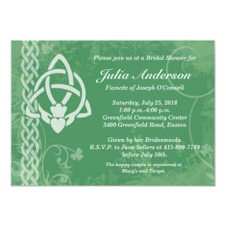 Ireland Claddagh Bridal Shower Invitation at Zazzle