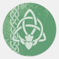 Ireland Claddagh Classic Round Sticker at Zazzle