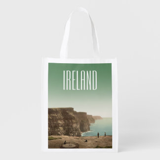 Ireland Cliffs of Moher 1890s Vintage Grocery Bag