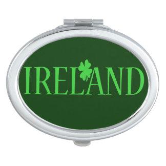Ireland Clover Compact Vanity Mirror