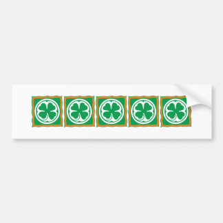 Ireland clover sheet Eire Irish country shame skir Bumper Sticker
