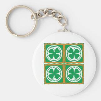 Ireland clover sheet Eire Irish country shame skir Keychain