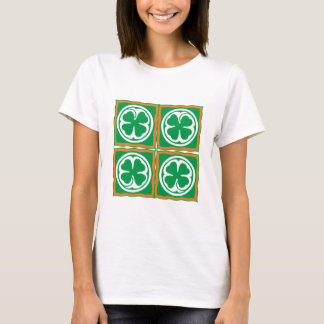 Ireland clover sheet Eire Irish country shame T-Shirt