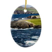 Ireland coast ceramic ornament