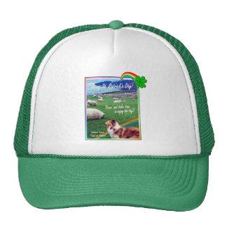 Ireland Coast,  Collie & Flock of Sheep Design #2 Trucker Hat