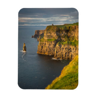 Ireland coastline at sunset rectangular photo magnet