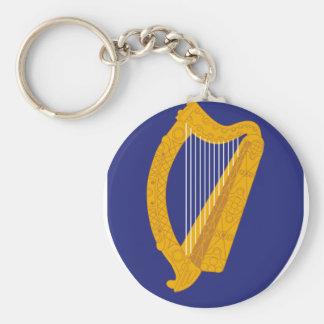 Ireland coat of arms basic round button keychain