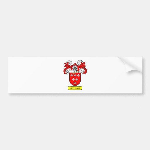 IRELAND Coat of Arms Bumper Stickers